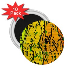 Gentle Yellow Abstract Art 2 25  Magnets (10 Pack)  by Valentinaart