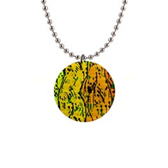 Gentle Yellow Abstract Art Button Necklaces by Valentinaart