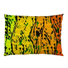 Gentle Yellow Abstract Art Pillow Case (two Sides) by Valentinaart