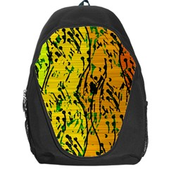 Gentle Yellow Abstract Art Backpack Bag by Valentinaart