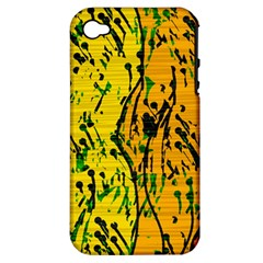 Gentle yellow abstract art Apple iPhone 4/4S Hardshell Case (PC+Silicone)