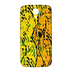 Gentle Yellow Abstract Art Samsung Galaxy S4 I9500/i9505  Hardshell Back Case by Valentinaart