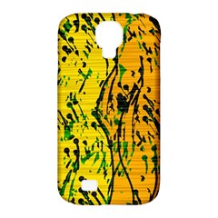 Gentle Yellow Abstract Art Samsung Galaxy S4 Classic Hardshell Case (pc+silicone) by Valentinaart