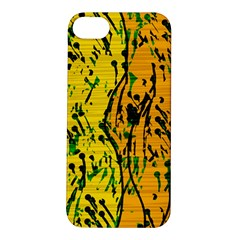 Gentle Yellow Abstract Art Apple Iphone 5s/ Se Hardshell Case by Valentinaart