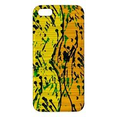 Gentle Yellow Abstract Art Iphone 5s/ Se Premium Hardshell Case by Valentinaart