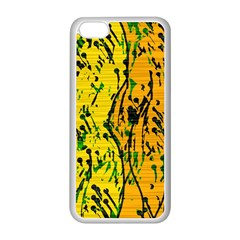 Gentle Yellow Abstract Art Apple Iphone 5c Seamless Case (white) by Valentinaart