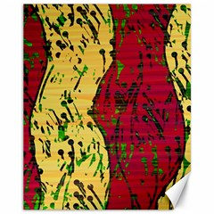 Maroon And Ocher Abstract Art Canvas 11  X 14   by Valentinaart