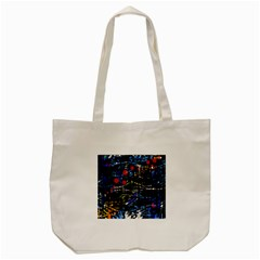 Blue Confusion Tote Bag (cream) by Valentinaart