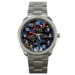 Blue Confusion Sport Metal Watch by Valentinaart