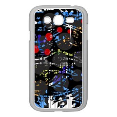 Blue Confusion Samsung Galaxy Grand Duos I9082 Case (white) by Valentinaart