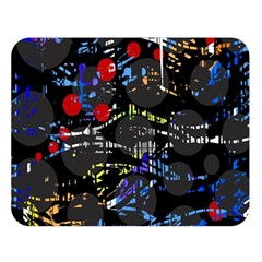 Blue Confusion Double Sided Flano Blanket (large)  by Valentinaart