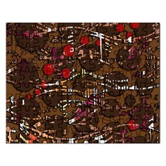 Brown Confusion Rectangular Jigsaw Puzzl by Valentinaart