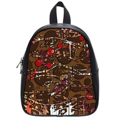 Brown Confusion School Bags (small)  by Valentinaart