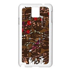 Brown Confusion Samsung Galaxy Note 3 N9005 Case (white) by Valentinaart