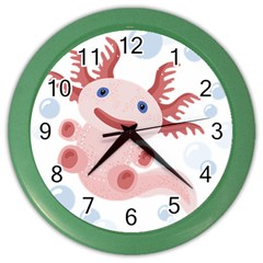Axolotl Natural Tshirt Color Wall Clocks by XOOXOO