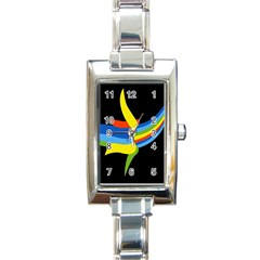Abstraction Banana Rectangle Italian Charm Watch by AnjaniArt