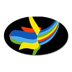 Abstraction Banana Oval Magnet