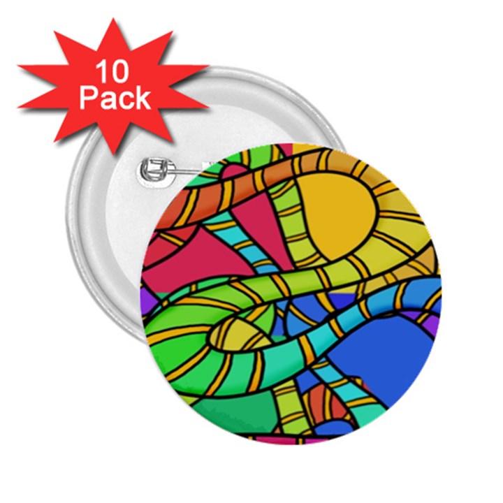 Abstrak 2.25  Buttons (10 pack)
