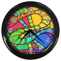 Abstrak Wall Clocks (black)