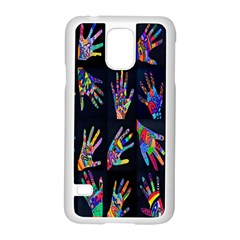 Art With Your Hand Samsung Galaxy S5 Case (white) by AnjaniArt