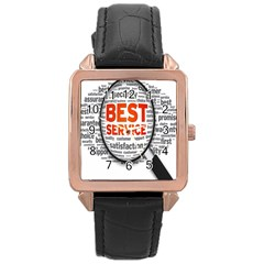 Article Rose Gold Leather Watch  by AnjaniArt