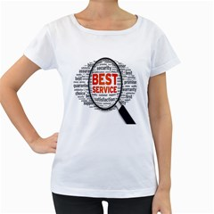 Article Women s Loose Fit T Shirt (white) by AnjaniArt