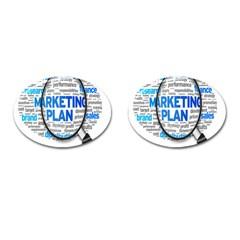 Article Market Plan Cufflinks (Oval) by AnjaniArt