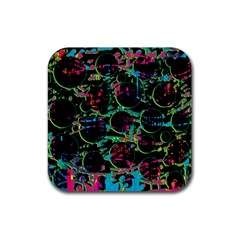 Graffiti Style Design Rubber Coaster (square)  by Valentinaart
