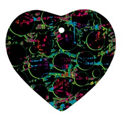 Graffiti Style Design Heart Ornament (2 Sides) by Valentinaart