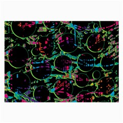 Graffiti Style Design Large Glasses Cloth by Valentinaart