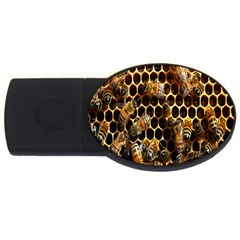 Bees On A Comb Usb Flash Drive Oval (2 Gb)  by AnjaniArt