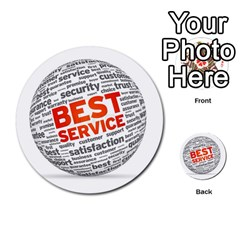 Best Service Multi Purpose Cards (round)  by AnjaniArt