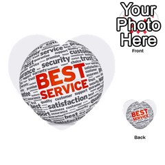 Best Service Multi Purpose Cards (heart)  by AnjaniArt