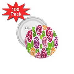 Blue Rose 1 75  Buttons (100 Pack)  by AnjaniArt