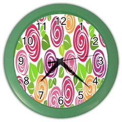 Blue Rose Color Wall Clocks by AnjaniArt