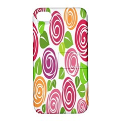 Blue Rose Apple Iphone 4/4s Hardshell Case With Stand by AnjaniArt