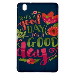 C mon Get Happy With A Bright Floral Themed Print Samsung Galaxy Tab Pro 8 4 Hardshell Case by AnjaniArt