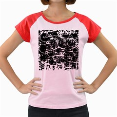 Black and white confusion Women s Cap Sleeve T-Shirt by Valentinaart