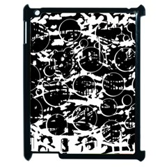 Black And White Confusion Apple Ipad 2 Case (black) by Valentinaart