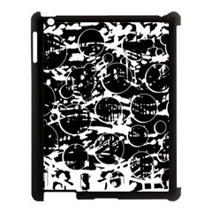 Black And White Confusion Apple Ipad 3/4 Case (black) by Valentinaart