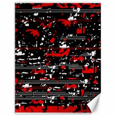 Red Symphony Canvas 12  X 16   by Valentinaart