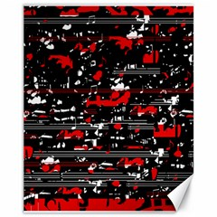 Red Symphony Canvas 11  X 14   by Valentinaart