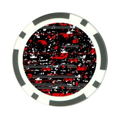 Red Symphony Poker Chip Card Guards by Valentinaart