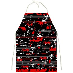 Red Symphony Full Print Aprons by Valentinaart
