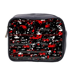 Red Symphony Mini Toiletries Bag 2 Side by Valentinaart