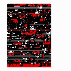Red Symphony Small Garden Flag (two Sides) by Valentinaart