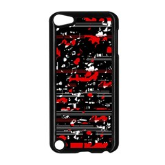 Red Symphony Apple Ipod Touch 5 Case (black) by Valentinaart