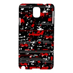 Red Symphony Samsung Galaxy Note 3 N9005 Hardshell Case by Valentinaart