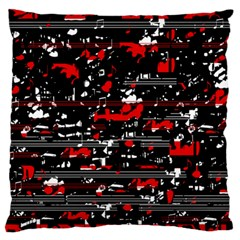 Red Symphony Large Flano Cushion Case (one Side) by Valentinaart