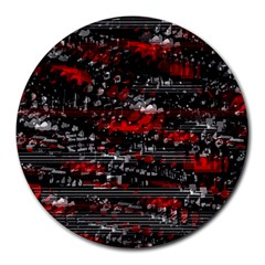 Bed Eyesight Round Mousepads by Valentinaart